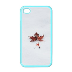Winter Maple Minimalist Simple Apple Iphone 4 Case (color) by Nexatart