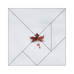 Winter Maple Minimalist Simple Acrylic Tangram Puzzle (6  X 6 )