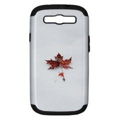 Winter Maple Minimalist Simple Samsung Galaxy S Iii Hardshell Case (pc+silicone)