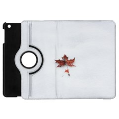 Winter Maple Minimalist Simple Apple Ipad Mini Flip 360 Case