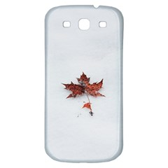 Winter Maple Minimalist Simple Samsung Galaxy S3 S Iii Classic Hardshell Back Case by Nexatart