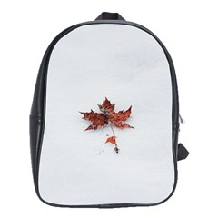 Winter Maple Minimalist Simple School Bags (xl)