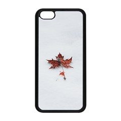 Winter Maple Minimalist Simple Apple Iphone 5c Seamless Case (black) by Nexatart