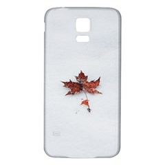 Winter Maple Minimalist Simple Samsung Galaxy S5 Back Case (white) by Nexatart