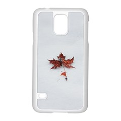Winter Maple Minimalist Simple Samsung Galaxy S5 Case (white) by Nexatart