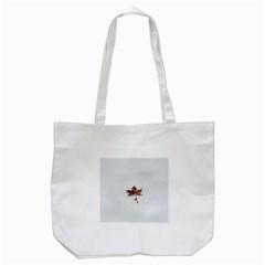 Winter Maple Minimalist Simple Tote Bag (white)