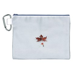 Winter Maple Minimalist Simple Canvas Cosmetic Bag (xxl) by Nexatart