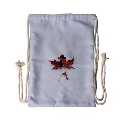 Winter Maple Minimalist Simple Drawstring Bag (small)
