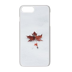 Winter Maple Minimalist Simple Apple Iphone 7 Plus White Seamless Case