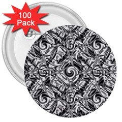 Gray Scale Pattern Tile Design 3  Buttons (100 Pack)