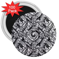 Gray Scale Pattern Tile Design 3  Magnets (100 Pack) by Nexatart