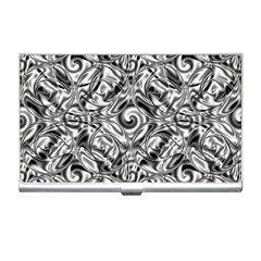 Gray Scale Pattern Tile Design Business Card Holders by Nexatart