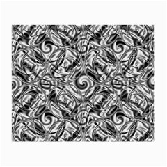 Gray Scale Pattern Tile Design Small Glasses Cloth by Nexatart