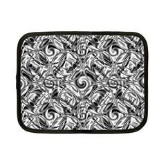 Gray Scale Pattern Tile Design Netbook Case (small)  by Nexatart