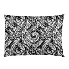 Gray Scale Pattern Tile Design Pillow Case by Nexatart