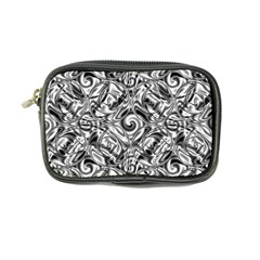 Gray Scale Pattern Tile Design Coin Purse