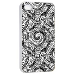 Gray Scale Pattern Tile Design Apple Iphone 4/4s Seamless Case (white) by Nexatart