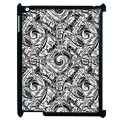 Gray Scale Pattern Tile Design Apple Ipad 2 Case (black) by Nexatart