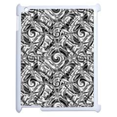 Gray Scale Pattern Tile Design Apple Ipad 2 Case (white) by Nexatart