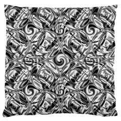 Gray Scale Pattern Tile Design Large Cushion Case (two Sides)