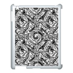 Gray Scale Pattern Tile Design Apple Ipad 3/4 Case (white)