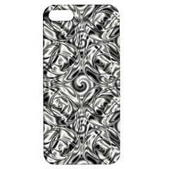 Gray Scale Pattern Tile Design Apple Iphone 5 Hardshell Case With Stand by Nexatart
