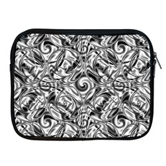 Gray Scale Pattern Tile Design Apple Ipad 2/3/4 Zipper Cases by Nexatart
