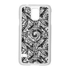 Gray Scale Pattern Tile Design Samsung Galaxy S5 Case (white)
