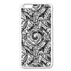 Gray Scale Pattern Tile Design Apple Iphone 6 Plus/6s Plus Enamel White Case