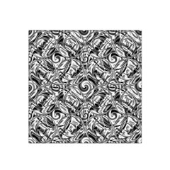 Gray Scale Pattern Tile Design Satin Bandana Scarf by Nexatart