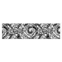 Gray Scale Pattern Tile Design Satin Scarf (oblong) by Nexatart