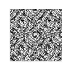 Gray Scale Pattern Tile Design Small Satin Scarf (square) by Nexatart