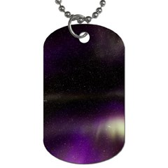 The Northern Lights Nature Dog Tag (two Sides) by Nexatart