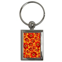 Gerbera Flowers Nature Plant Key Chains (rectangle)