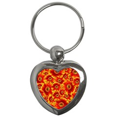 Gerbera Flowers Nature Plant Key Chains (heart)