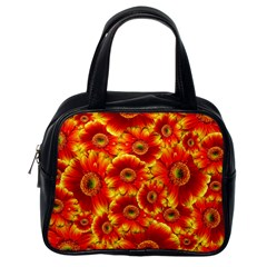 Gerbera Flowers Nature Plant Classic Handbags (one Side)