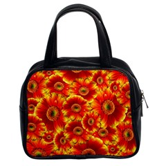 Gerbera Flowers Nature Plant Classic Handbags (2 Sides)