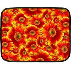Gerbera Flowers Nature Plant Fleece Blanket (mini)
