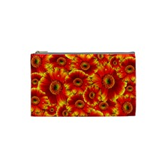 Gerbera Flowers Nature Plant Cosmetic Bag (small)  by Nexatart