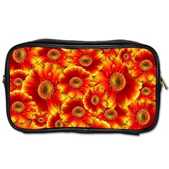 Gerbera Flowers Nature Plant Toiletries Bags