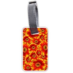 Gerbera Flowers Nature Plant Luggage Tags (one Side)  by Nexatart
