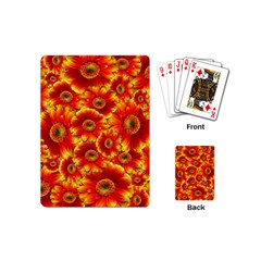 Gerbera Flowers Nature Plant Playing Cards (mini)