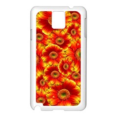Gerbera Flowers Nature Plant Samsung Galaxy Note 3 N9005 Case (white)