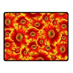 Gerbera Flowers Nature Plant Double Sided Fleece Blanket (small)  by Nexatart