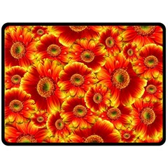 Gerbera Flowers Nature Plant Double Sided Fleece Blanket (large)  by Nexatart