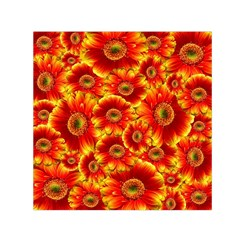 Gerbera Flowers Nature Plant Small Satin Scarf (square)