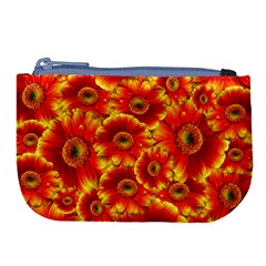 Gerbera Flowers Nature Plant Large Coin Purse