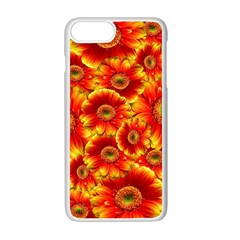 Gerbera Flowers Nature Plant Apple Iphone 7 Plus White Seamless Case