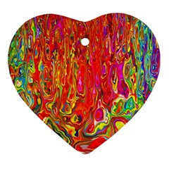 Background Texture Colorful Ornament (heart) by Nexatart