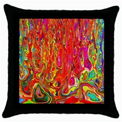 Background Texture Colorful Throw Pillow Case (black) by Nexatart